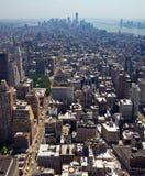 De Stad van New York - Horizon de Van de binnenstad van Manhattan Royalty-vrije Stock Afbeelding