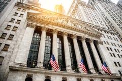 De STAD van NEW YORK - 28 Juli: New York Stock Exchange 28 Juli, 2016 in New York, NY Het is de grootste beurs in de wereld Stock Foto