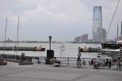 De Stad van New York, 2 Juli: De Waterkant van de Brookfieldplaats in Manhattan van de Stad van New York in Verenigde Staten Stock Foto