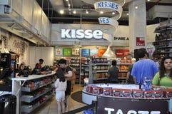 De Stad van New York, 2 Juli: De Winkelbinnenland van de Herseychocolade van Times Square in Uit het stadscentrum Manhattan van d Stock Afbeelding