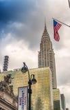 DE STAD VAN NEW YORK - JUNI 2013: De Chrysler-bouw was de wereld Royalty-vrije Stock Foto