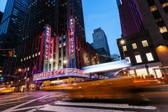 DE STAD VAN NEW YORK - 14 JUNI: Voltooid in 1932, was het beroemde trefpunt Stock Afbeelding