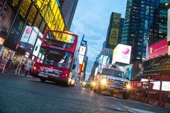 De Stad van New York 4 keer regelt nacht Royalty-vrije Stock Afbeelding