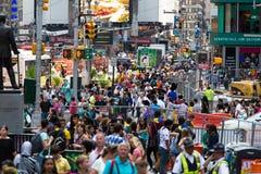De Stad van New York 4 keer vierkant Stock Afbeelding