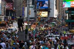 De Stad van New York 4 keer vierkant Stock Foto