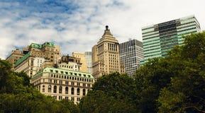 De Stad van New York - kijk van batterijpark Stock Foto's