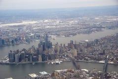 De Stad van New York - luchtmening royalty-vrije stock foto's