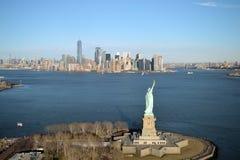 De Stad van New York - luchtmening stock afbeelding