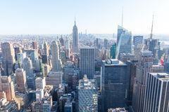 De Stad van New York Manhattan, Empire State Building Stock Foto