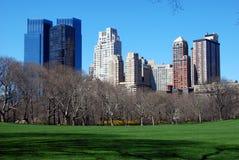 De Stad van New York: Mening over Central Park Stock Afbeeldingen