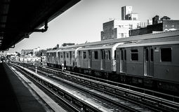 De Stad van New York - Metro stock foto