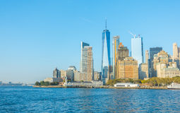 De Stad van New York - 18 Oktober, 2016: De horizon van Manhattan, New York Ci Stock Afbeelding