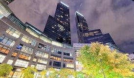DE STAD VAN NEW YORK - 24 OKTOBER, 2015: De mooie mening o van de zonsondergangstraat Royalty-vrije Stock Fotografie