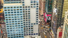 De STAD van NEW YORK, 9 OKTOBER, 2014 - Zonsondergang in Manhattan stock video