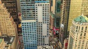 De STAD van NEW YORK, 9 OKTOBER, 2014 - Zonsondergang in Manhattan stock footage