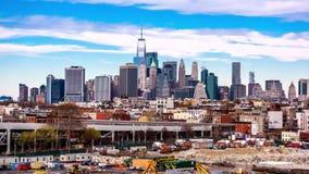 De Stad van New York, de Tijdspanne van de de Horizontijd van de V.S. stock footage
