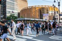 De Stad van New York/de V.S. - 13 juli 2018: Penn Station-mening van 34ste s Royalty-vrije Stock Afbeeldingen