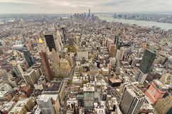 De Stad van New York van de binnenstad Stock Fotografie
