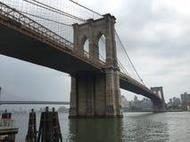 De Stad van New York van de Brug van Brooklyn Stock Afbeeldingen