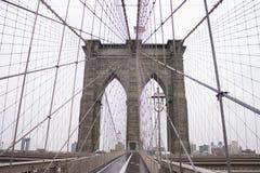 De Stad van New York van de Brug van Brooklyn Stock Fotografie
