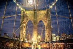 De Stad van New York van de Brug van Brooklyn Royalty-vrije Stock Fotografie