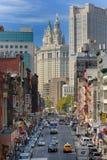 De Stad van New York van de Chinatown