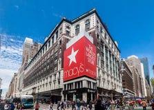 De Stad van New York van de Macysopslag Royalty-vrije Stock Afbeeldingen