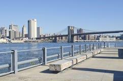 De Stad van New York van de Rivier van het oosten Royalty-vrije Stock Foto