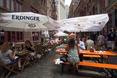 De Stad van New York van de steenstraat Stock Foto