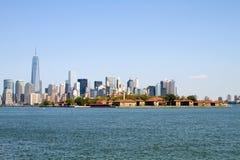 De Stad van New York van het Eiland van Ellis Royalty-vrije Stock Foto