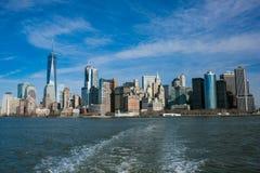 De Stad van New York van wolkenkrabbers Stock Afbeelding