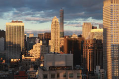 De Stad van New York Vroege Avond Stock Afbeeldingen