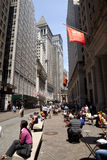 De Stad van New York - Wall Street-District Royalty-vrije Stock Fotografie