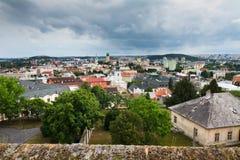 De stad van Nitra Stock Afbeeldingen