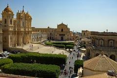 De stad van Nota Sicilië Italië stock foto's