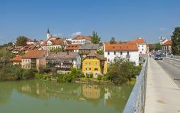 De stad van Novomesto, Slovenië Stock Afbeelding