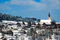 De stad van Oberstaufen, Allgau, Duitsland Stock Foto