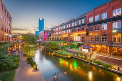 De Stad van Oklahoma, Oklahoma, de V.S. stock afbeelding