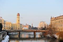 De stad van Oradea, Roemenië Stock Foto