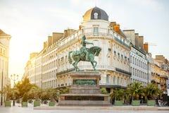 De stad van Orléans in Frankrijk stock fotografie