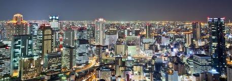 De stad van Osaka Stock Foto's