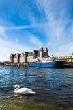 De stad van Oslo stock afbeelding