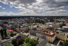 De stad van Ostrava Stock Afbeeldingen