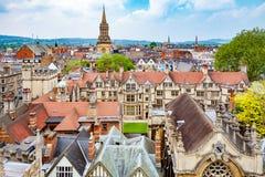De Stad van Oxford engeland Stock Foto