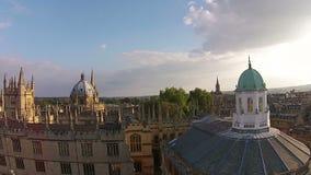 De stad van Oxford, luchtmening stock footage