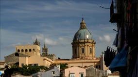 De stad van Palermo timelapse, Italië stock footage