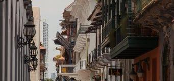 De Stad van Panama - Casco Viejo, Panama Stock Foto's
