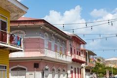 DE STAD VAN PANAMA, PANAMA - FEBRUARI 14, 2018: Kleurrijk uitstekend beeld Stock Foto's