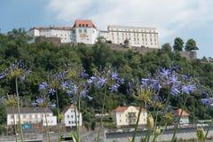 De stad van passau in Duitsland stock afbeeldingen