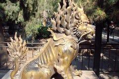 De stad van Peking China Stadsmening, Chinese kunst, Oosterse godsdienstige architectuur royalty-vrije stock foto's